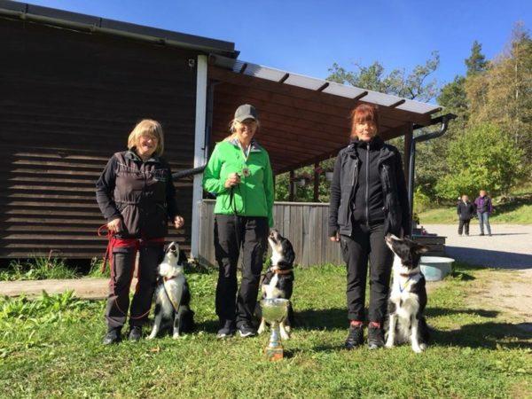Tina Rosberg med Valllhunden Little-Joe, Mälarö BK